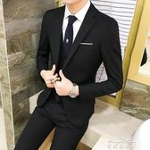 夏季英倫風雙排扣小西裝男士修身韓版潮流帥氣青年潮西服外套   麥琪精品屋