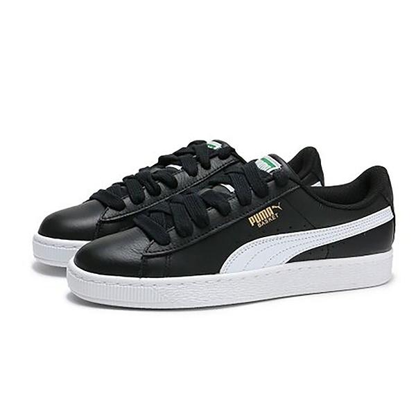 9S-PUMA BASKET CLASSIC LFS 黑白皮革休閒鞋男女款 35436721