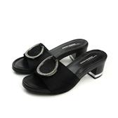 HUMAN PEACE 涼鞋 拖鞋式  粗跟 黑色 女鞋 65212 no259