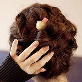 韓國發飾方塊果凍糖果色發圈簡約發繩皮筋可愛扎長頭繩小飾品【快速出貨優惠兩天】