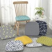 坐墊 日式棉麻坐墊餐椅墊北歐馬蹄形實木椅子座墊家用保暖加棉椅墊四季【幸福小屋】