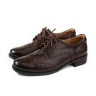 HUMAN PEACE 休閒皮鞋 牛皮 低跟 深咖啡色 女鞋 8271 no386