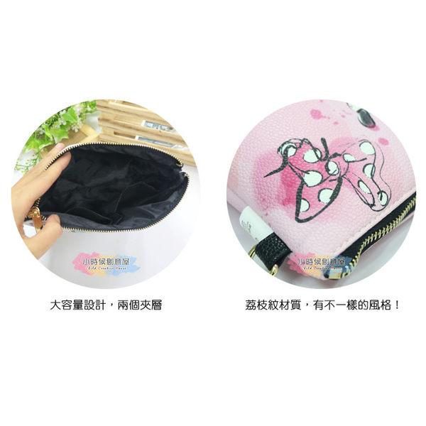 ☆小時候創意屋☆ 迪士尼 正版授權 花朵史迪奇 荔枝紋 塗鴉包 側背包 肩背包 收納包 行動電源包