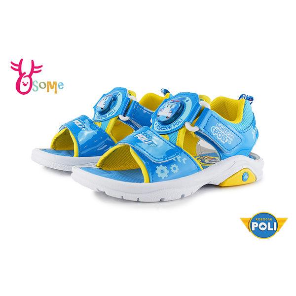 POLI 波力 中童 涼鞋 電燈鞋 MIT 台灣製 正版授權 J6402#藍色◆OSOME奧森鞋業