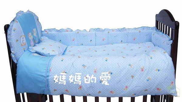 {家事達}Mother's Love KC010-小熊七件式純棉被組M(台灣製) 特價 嬰兒床專用