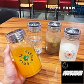 韓版簡約便攜透明水壺玻璃水杯水瓶【邦邦男裝】