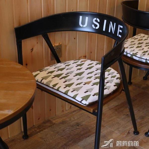 加厚北歐餐椅墊學生教室辦公室坐墊實木椅子墊子凳子坐墊椅墊布藝 樂芙美鞋