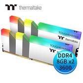 Thermaltake 曜越 TOUGHRAM RGB DDR4 3600MHz 8GBx2 超頻記憶體 白色 R022D408GX2-3600C18A