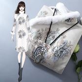 中國風洋裝 唐裝改良旗袍古風外套古裝漢服大衣冬裝中式民國  跨年狂歡慶