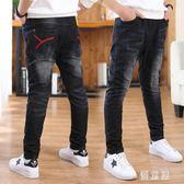 男童牛仔褲新款兒童男大童褲子直筒寬鬆加絨加厚冬季潮 QG17083『優童屋』