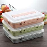 日式分格保溫飯盒微波爐成人塑膠可愛學生便當盒1層餐盒