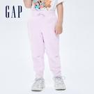 Gap幼童裝 碳素軟磨系列 素色刷毛針織長褲 755648-淡紫色