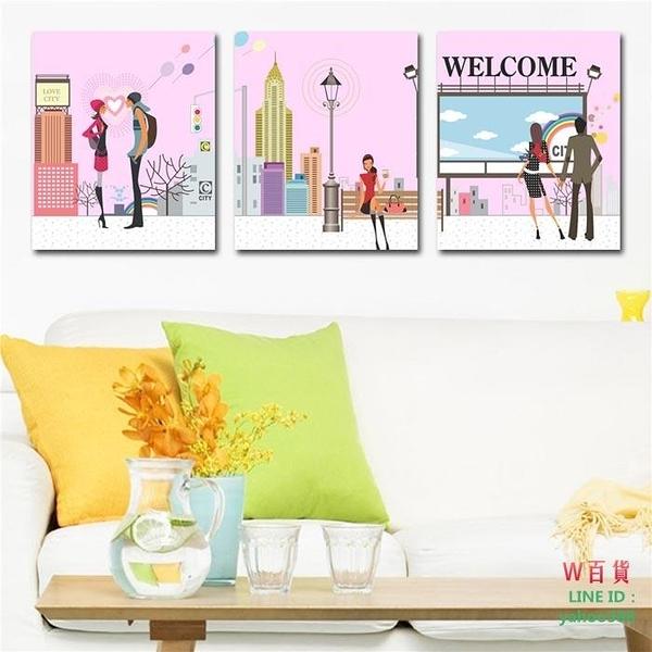 無框畫裝飾畫卡通情侶畫客廳浪漫臥室墻壁畫掛畫歐式壁畫