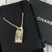 BRAND楓月 CHANEL香奈兒 B21/V 經典 外雙C LOGO 水鑽 長方 項鍊 墜鍊 粗鍊 飾品 金飾