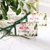 創意大理石紋糖盒長三角盒結婚喜糖盒創意歐式婚禮森系喜糖盒紙盒