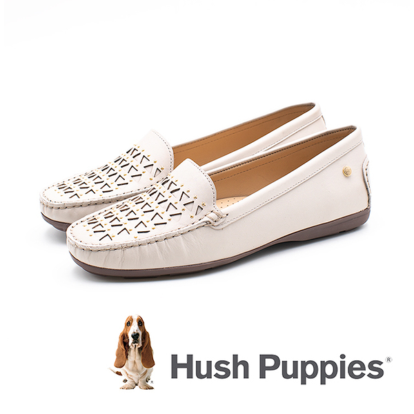Hush Puppies 幾何拼接莫卡辛鞋 女鞋-灰