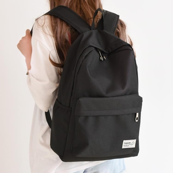 日系韓製原宿後後背包女後背包高中學生校園大容量簡約男後背包 【快速出貨】