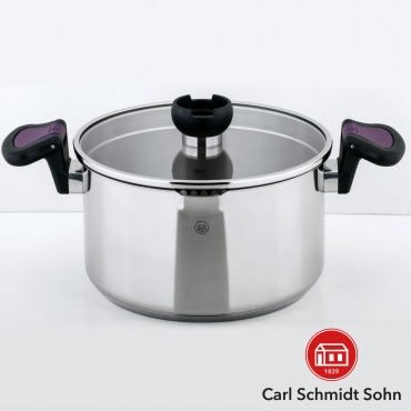 Carl Schmidt Sohn 亞倫不鏽鋼低身湯鍋 24cm