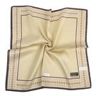 TRUSSARDI簡約菱格飾邊純綿男士帕巾(米褐色)989009-143