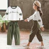 女童秋裝童裝兒童時髦洋氣套裝女孩秋季兩件套運動 東京衣秀