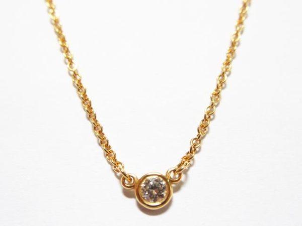 TIFFANY&CO 蒂芙尼 Diamond By The Yard Pendant Necklace 墜鍊  【BRAND OFF】