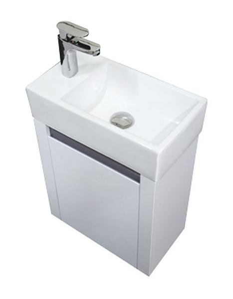 *小空間專用*洗臉盆+浴櫃(吊櫃)+水龍頭+全部配件 寬45*深26*高62cm 100%防水PVC發泡板鋼烤