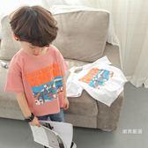 優惠兩天-短袖t恤男童短袖t恤2018新品夏裝兒童上衣休閒卡通夏季韓版潮寬鬆男寶寶2色