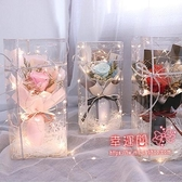 永生花 韓式小清新干花永生花康乃馨小花束ins風生日畢業禮伴手禮禮盒 7色