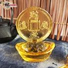 招財進寶-琉璃元寶擺件《含開光》財神小舖【EO-1301】