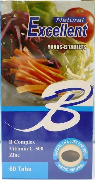 (3送1)Excellent B 【愛斯樂B 天然食品】*(60粒\瓶)*4瓶-食品  《宏泰健康生活網》
