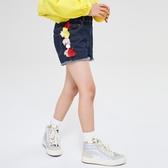 【S】gxg kids童裝18兒童春新款休閒熱褲時尚流蘇女童牛仔短褲潮