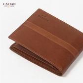 【牛皮/短夾【CALTAN】型男簡約大方真皮短夾-074136cd