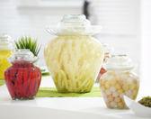 無鉛家用透明腌蛋酸菜鹹菜加厚儲物罐PLL4180【男人與流行】