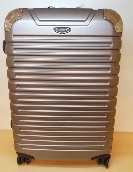 EMINENT雅仕 萬國通路 霧面鋁框 PC材質 台灣製MIT 行李箱/旅行箱-25吋(金灰) 9Q3