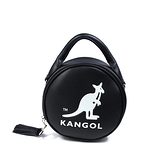 KANGOL 側背包 圓型包 手提 黑色 6055301120 noC18