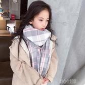 韓版秋冬季兒童保暖圍巾時尚男女孩格子加厚保暖加長款小清新圍脖 暖心生活館