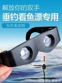 釣魚望遠鏡看漂專用高清眼鏡式垂釣近視頭戴式老花專業夜視用高倍 繽紛創意家居