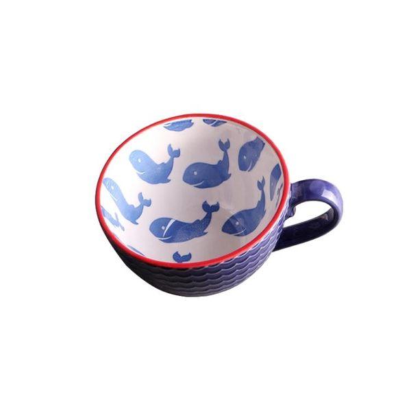 杯子陶瓷復古浮雕個性早餐杯手繪麥片杯大咖啡杯創意情侶杯牛奶杯