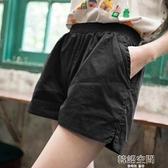 休閒短褲女寬鬆韓版高腰大碼顯瘦闊腿運動熱褲夏季2020新款外穿潮 【韓語空間】
