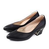 HUMAN PEACE 尖頭 低跟鞋 粗跟 黑色 女鞋 043502AB no344