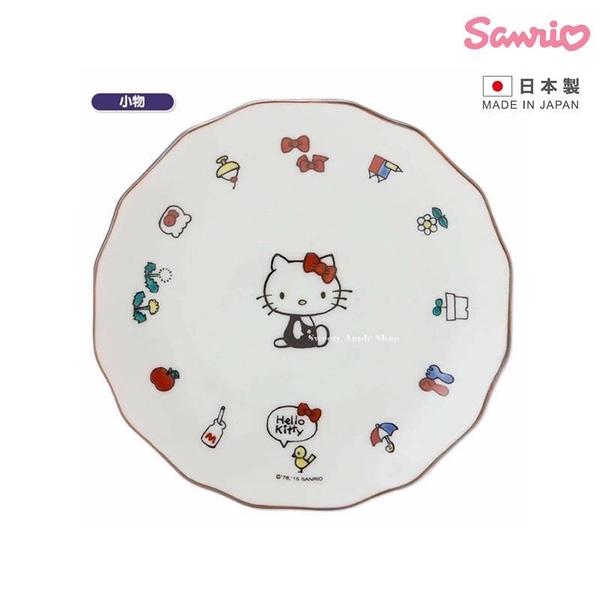 【SAS】【日本製】日本限定 三麗鷗×KUTANI SEAL聯名系列 KITTY 凱蒂貓 九谷燒 小物版 磁器盤子