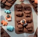 烘焙模具 糕點蛋糕模具 卡通硅膠冰格模具冰箱凍冰塊盒創意自制DIY巧克力奶酪棒烘焙