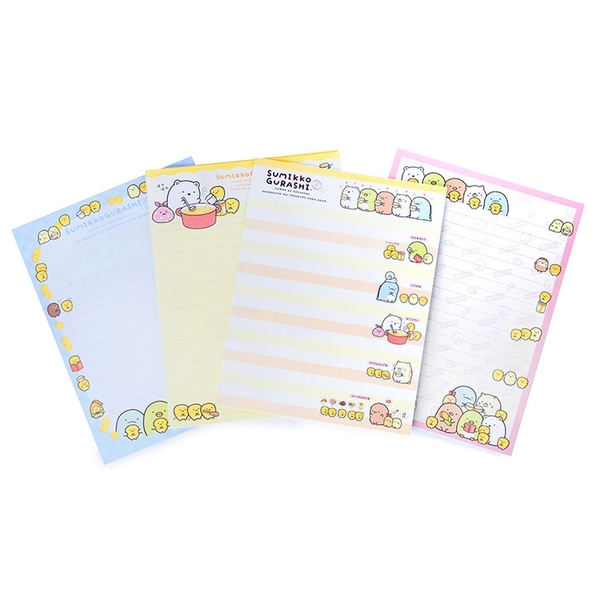 SAN-X 角落生物 玉米濃湯系列 信封信紙組 大白熊 黃_XS77699
