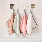 珊瑚絨 抹布 擦手巾 不掉毛 洗碗布 可掛式 清潔巾 大掃除 吸水 珊瑚絨抹布(大)【N190】米菈生活館