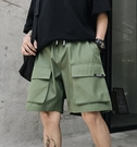 FINDSENSE H1夏季 日本 新款 復古 多口袋工裝褲 休閒  五分褲短褲