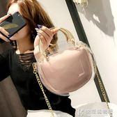 斜背包包包女新款個性透明鏈條子母包迷你手提包小挎包時尚斜跨女包 快意購物網
