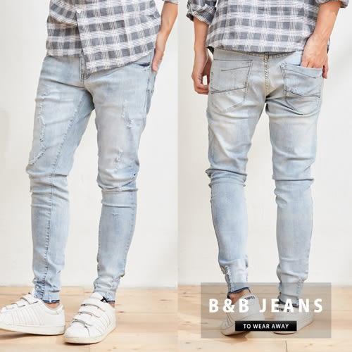 淺藍窄管牛仔褲