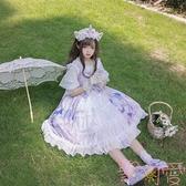 洛麗塔lolita天空之城日系jsk吊帶連身裙子洋裝【聚可愛】