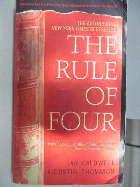 【書寶二手書T6/原文小說_CJZ】The Rule of Four_Ian Caldwell