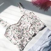 日系清新甜美小碎花泳裝顯瘦裙式分體溫泉度假泳衣女